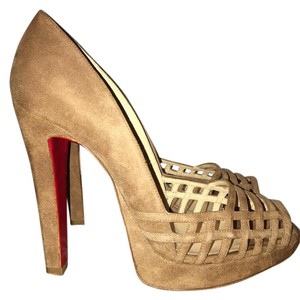Christian Louboutin Tan Suede Sandals
