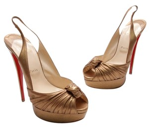 Christian Louboutin Bronze Leather Formal