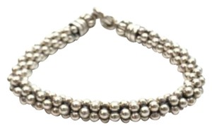 Lagos LAGOS Caviar Bracelet-Beaded Sterling Silver Rope 7mm NEW