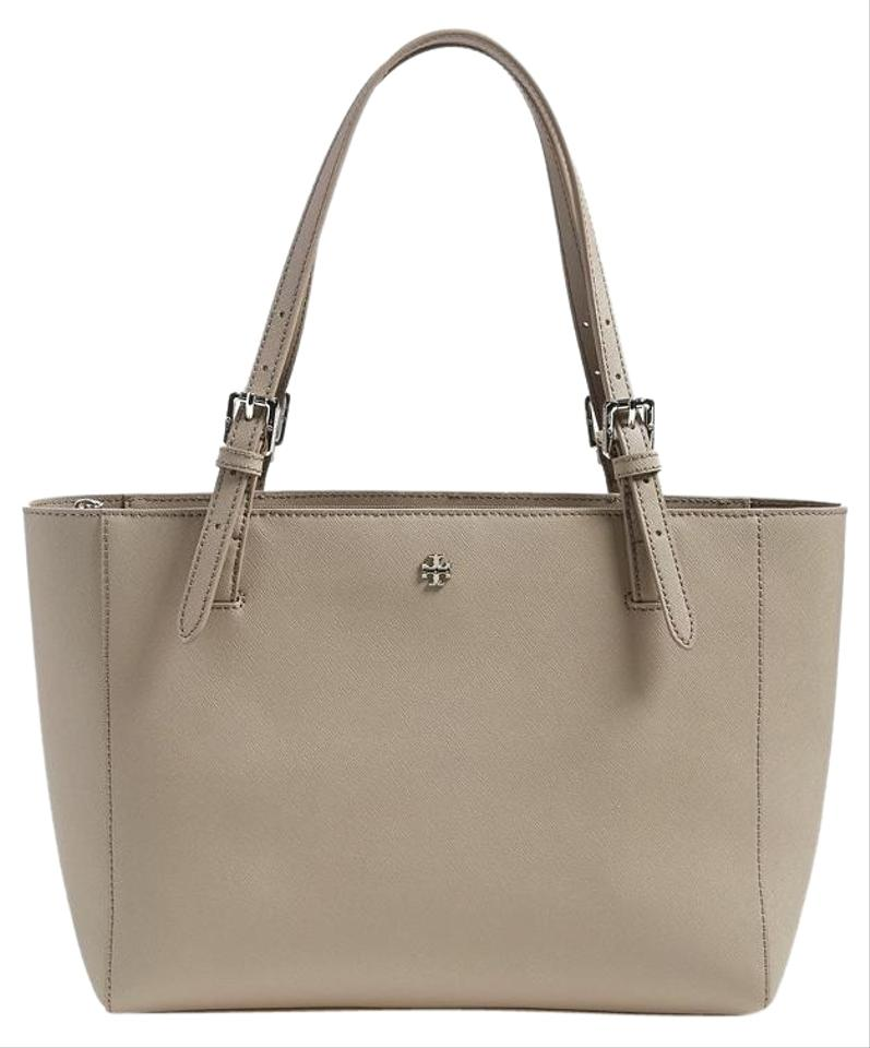 002080da59b4 Tory Burch  small York  Buckle French Grey Saffiano Leather Tote ...