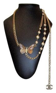Chanel Gripoix Enameled Butterfly Belt or Necklace