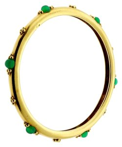 Boucheron Boucheron Paris Emerald Gold Slip On Bangle