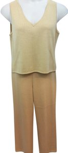 St. John ST. JOHN COLLECTION BY MARIE GRAY DARK BEIGE KNIT PANT SET M 6
