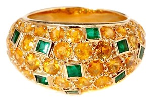 Van Cleef & Arpels Van Cleef & Arpels Yellow Sapphire Emerald Gold Bombe Ring