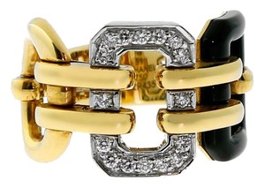 Chanel Chanel Onyx Diamond Gold Ring