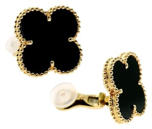 Van Cleef & Arpels Van Cleef Arpels Magic Alhambra Onyx Earrings