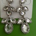 Silver Clear Earrings