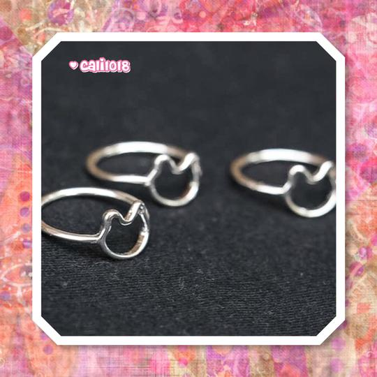 Other New Silver Minimalist Kitty Cat Ring SZ 7 Image 1