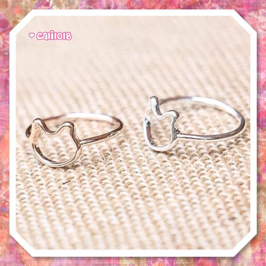 Other New Silver Minimalist Kitty Cat Ring SZ 7 Image 2