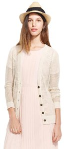 Madewell Long Sleeve Metallic Linen Cardigan