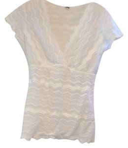 Cosabella Lace Eyelet Top white