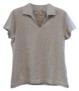 EP Pro & Cap Sleeve Polo T Shirt black and white striped