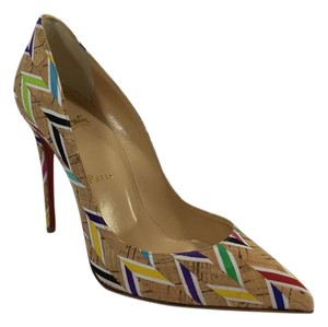 Christian Louboutin Chevron Multicolor Pumps