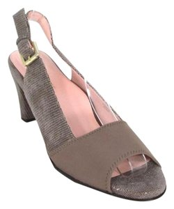 Taryn Rose Embossed Slingback Pump Taupe Pumps