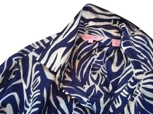 Lilly Pulitzer Top Multi navy and white