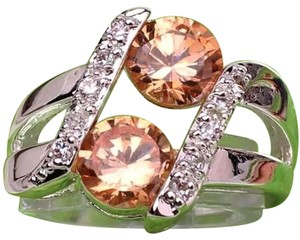 Orange topaz gemstone fashion ring