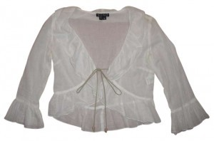 XOXO Bolero Ruffle Top White