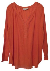 Ann Taylor LOFT Xl Gauze Lightweight Beaded Tunic