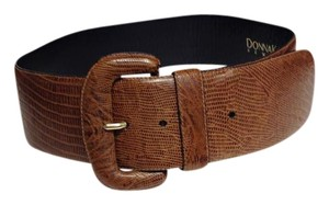Donna Karan Donna Karan NY Brown Embossed Genuine Leather Oversize Belt - Size L