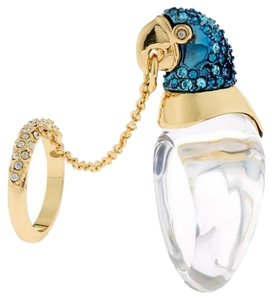 Alexis Bittar ALEXIS BITTAR Chained Crystal Parrot Ring With Encrusted Midi Ring