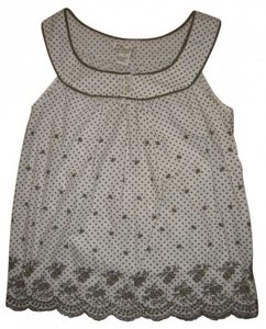 Forever 21 Scalloped Sleeveless Embroidered Tunic