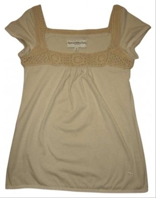 Preload https://img-static.tradesy.com/item/179461/abercrombie-and-fitch-tan-crochet-tunic-size-8-m-0-0-650-650.jpg