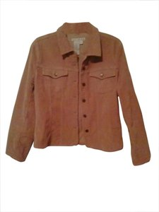 Ami Classic Preppy Boho Cord tan,beige,brown,khaki, Womens Jean Jacket