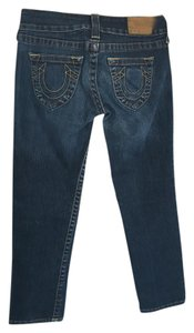 True Religion Capri Cropped Capri/Cropped Denim-Dark Rinse