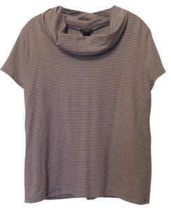 Ann Taylor Xl Striped Knit Top Pink and grey
