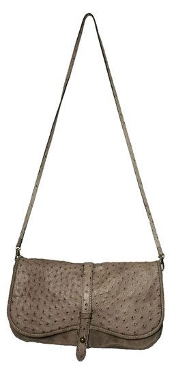 Kate Spade Ostrich Suede Taupe Clutch Image 3
