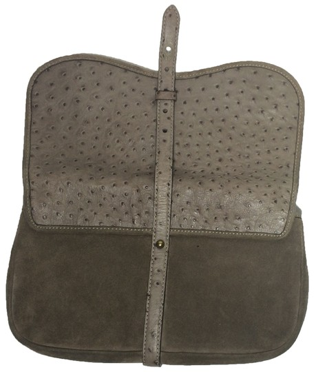 Kate Spade Ostrich Suede Taupe Clutch Image 4