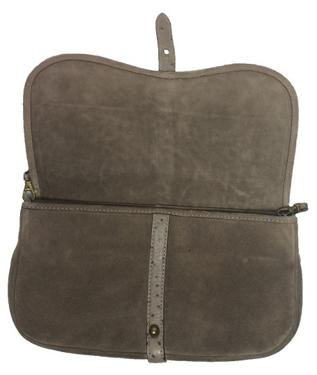 Kate Spade Ostrich Suede Taupe Clutch Image 6