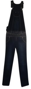 Italian design Maternity Denim Jeans Jumpsuit 2 In 1