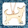 Other New Gold or Silver Chihuahua Pendant Necklace Image 2