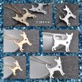Other New Gold or Silver Chihuahua Pendant Necklace Image 3