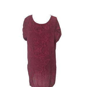 French Connection short dress Burgundy Reptile Print Tunic on Tradesy