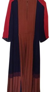 Rust, Navy & Red Maxi Dress by BCBGMAXAZRIA