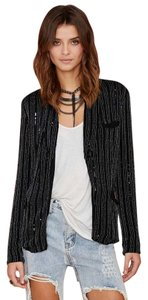 MLV Beaded Embellished Black Blazer