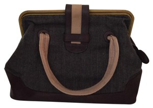 Marni Satchel in Denim And Brown