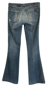 7 For All Mankind Man Kind Flare Leg Jeans-Distressed