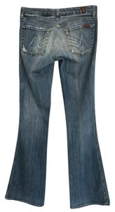 7 For All Mankind A Pocket Hole Flare Leg Jeans-Distressed