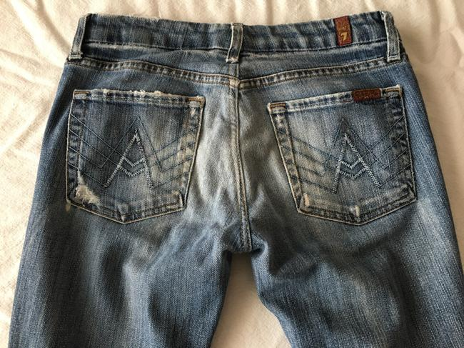 7 For All Mankind A Pocket Hole Flare Leg Jeans-Distressed Image 4