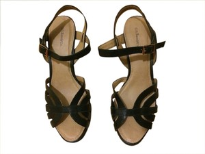 Bass Leather Black Sandals