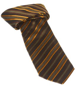Boss By Hugo Boss Boss By Hugo Boss Orange Multicolor Stripe Men's Tie