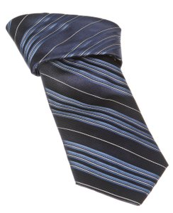 Joseph Abboud Joseph Abboud Blue Multicolor Stripe Men's Silk Tie