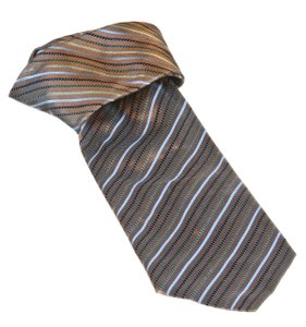John W. Nordstrom Brown Multicolor Stripe Men's Silk Tie