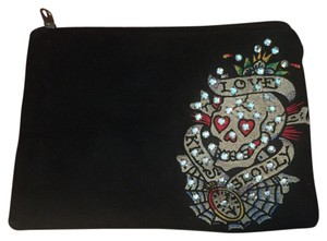 Ed Hardy black Clutch