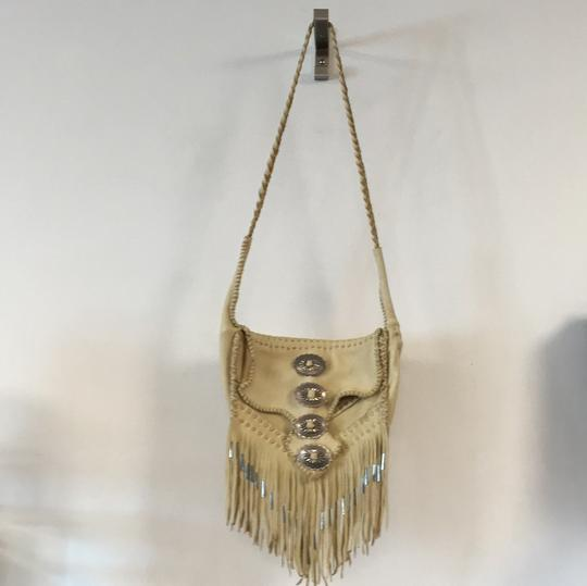 Free People Leather Fringe Silver Cross Body Bag Image 1