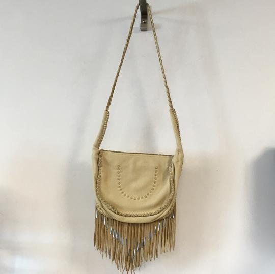 Free People Leather Fringe Silver Cross Body Bag Image 2