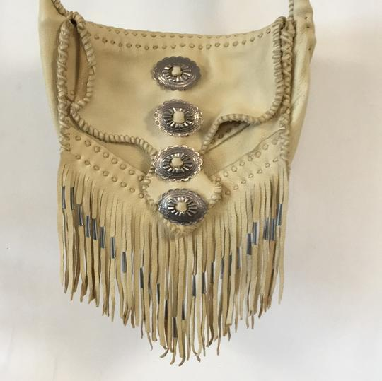 Free People Leather Fringe Silver Cross Body Bag Image 3